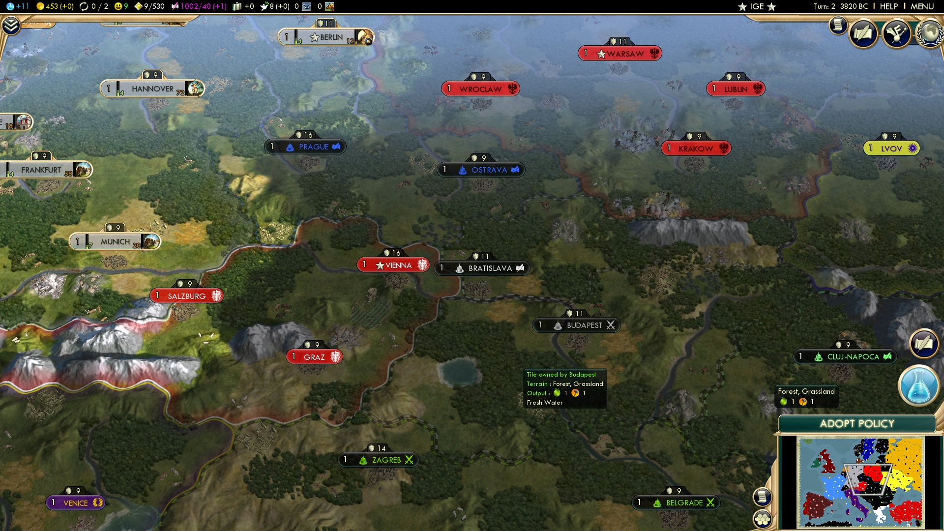 europe civilization 5 central